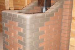 Монтаж железной банной печи с декоративным фасадом