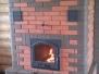 Отопительная печь для больших помещений с каминной дверкой #03