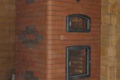 Отопительная печь-камин с хлебной камерой