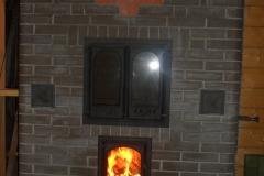 Отопительно-варочная печь для больших помещений с духовым шкафом