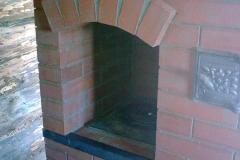 Отопительно-варочная печь с аркой и малым настилом