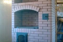 Отопительно-варочная печь со стекло-керамической плитой