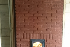 Печь каменка из декоративного кирпича