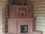 Угловая печь-камин с теплоемкими тумбами #36