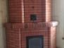 Угловой теплоемкий камин для больших помещений #32