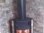 Железная угловая печь-камин с подключаемым отопительным щитом на 2 этаже #12